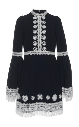 ANDREW GN | Andrew Gn Crochet Detail Cady Dress | Goxip