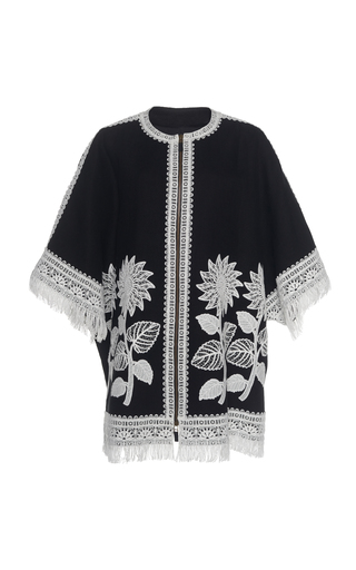 ANDREW GN | Andrew Gn Embroidered Linen Coat | Goxip