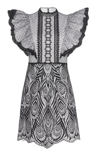 ANDREW GN | Andrew Gn Ruffle Sleeve Poplin Mini Dress | Goxip