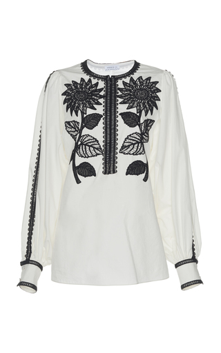 ANDREW GN | Andrew Gn Embroidered Cotton Top | Goxip