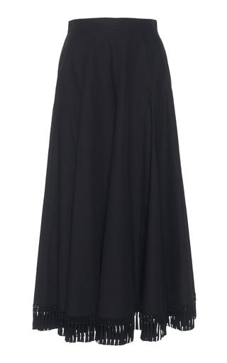 ANDREW GN | Andrew Gn Tassel Hem Cotton Skirt | Goxip