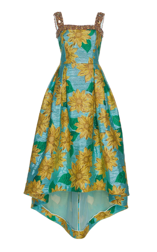 ANDREW GN | Andrew Gn Floral Jacquard Dress | Goxip