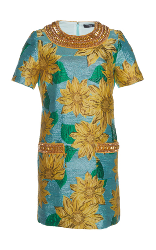 ANDREW GN | Andrew Gn Jewel Accent Jacquard Dress | Goxip