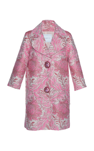 ANDREW GN | Andrew Gn Accent Button Jacquard Coat | Goxip