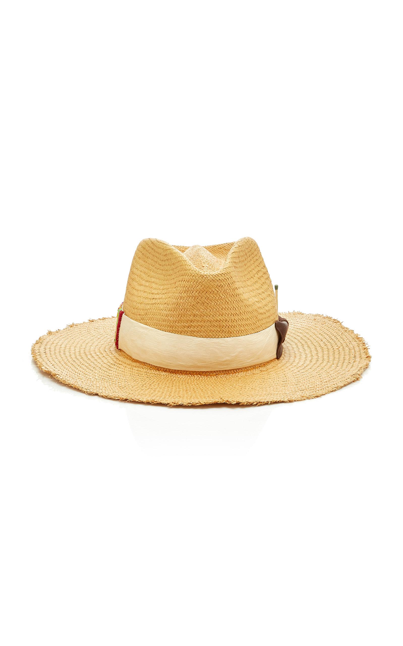 NICK FOUQUET | Nick Fouquet Melisande Grosgrain-Trimmed Straw Hat | Goxip