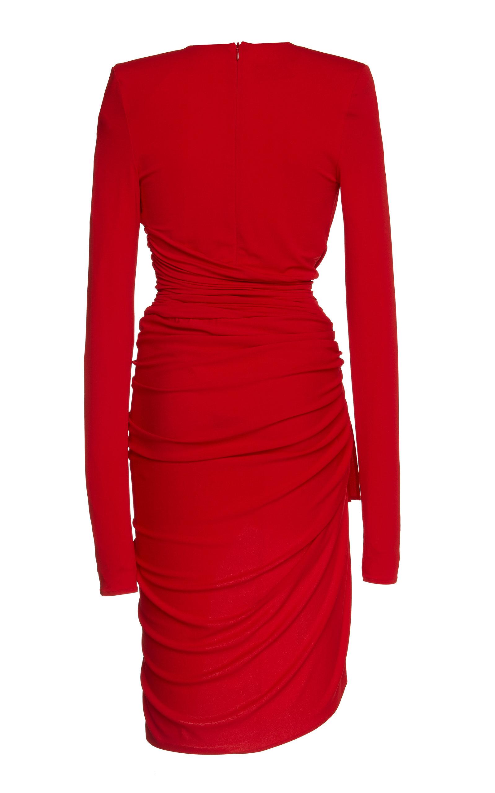 65452976 V-Neck Jersey Dress by Alexandre Vauthier | Moda Operandi