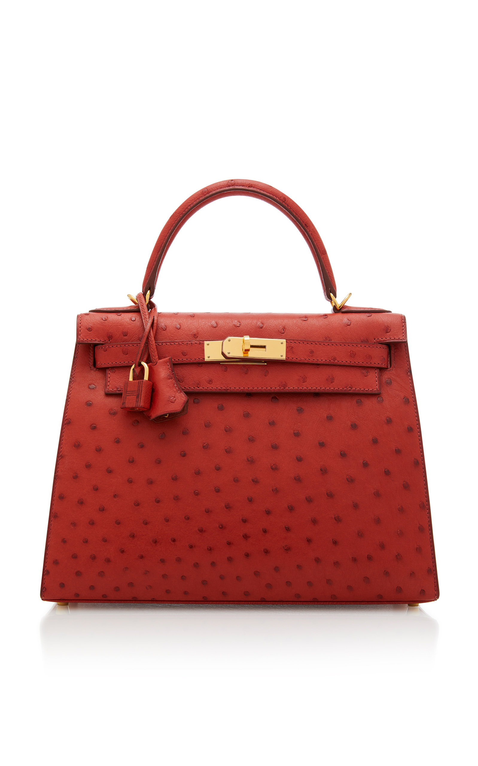 b5aa7a8dab83 Hermes 28cm Brique Ostrich Sellier Kelly by Hermès Vintage by ...