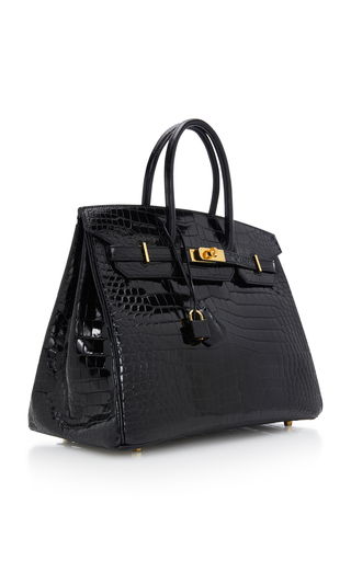 Hermès Vintage by Heritage AuctionsHermes 35cm Black Porosus Crocodile  Birkin 975da8237eefb