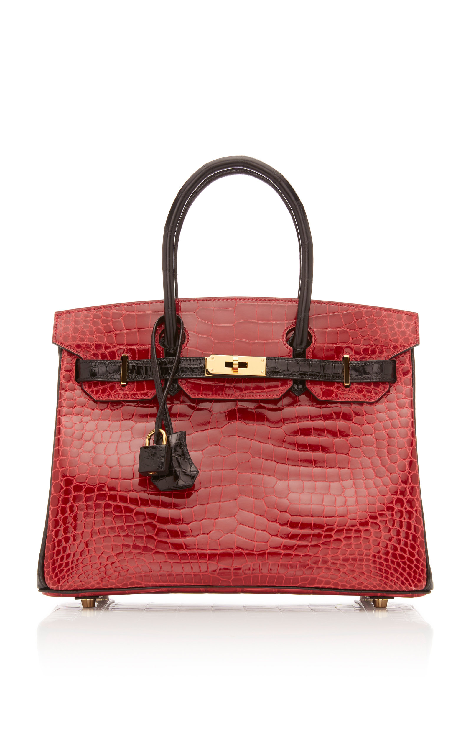 6d7561263c4c Hermès Vintage by Heritage AuctionsHermes 30cm Shiny Briase and Black  Porosus Crocodile Special Order Horseshoe Birkin