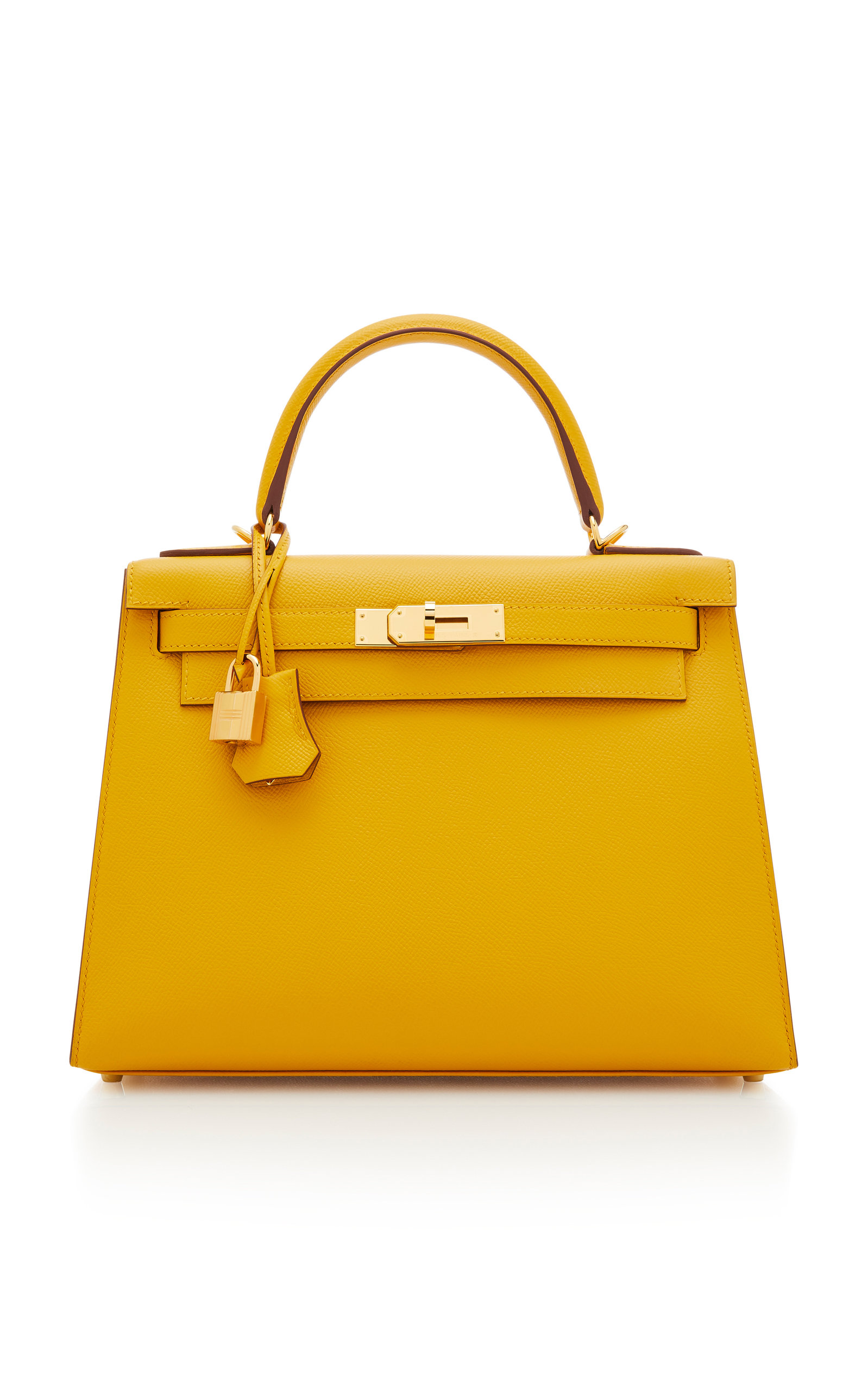 b6f9dad3823d Hermes 28cm Jaune Ambre Epsom Leather Sellier Kelly by Hermès ...