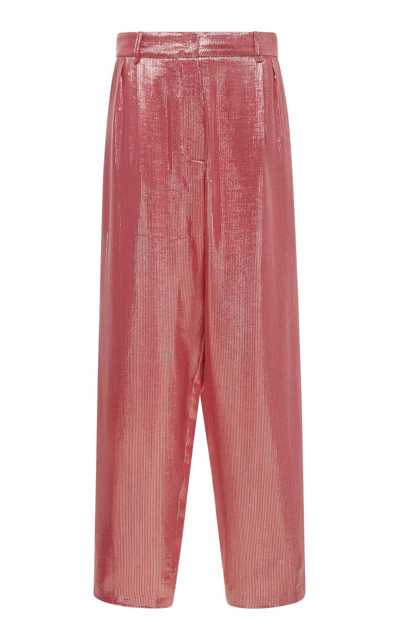 Blazé Milano DIVA HIGH-WAISTED SILK-WOOL CROPPED TROUSERS