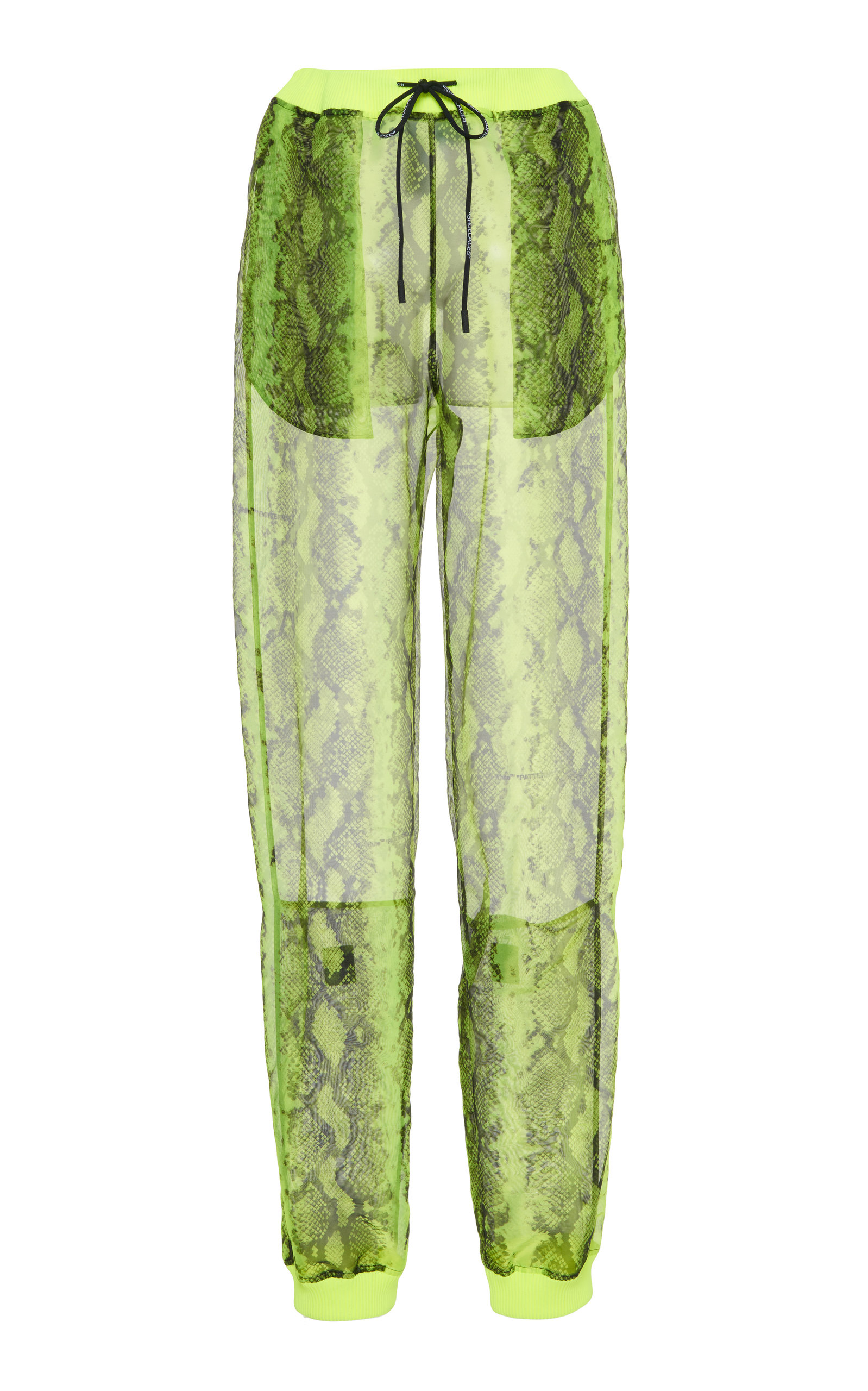 ce03c9698e3c Snakeskin High-Rise Jogger Pants by Off-White c o Virgil Abloh ...