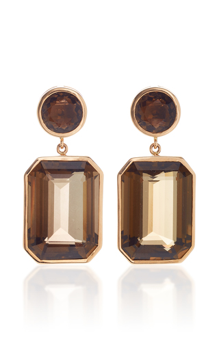 GIOVANE | Giovane 18K Rose Gold and Quartz Earrings | Goxip
