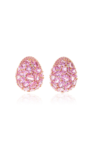 GIOVANE | Giovane 18K Rose Gold Pink Sapphire and Diamond Earrings | Goxip