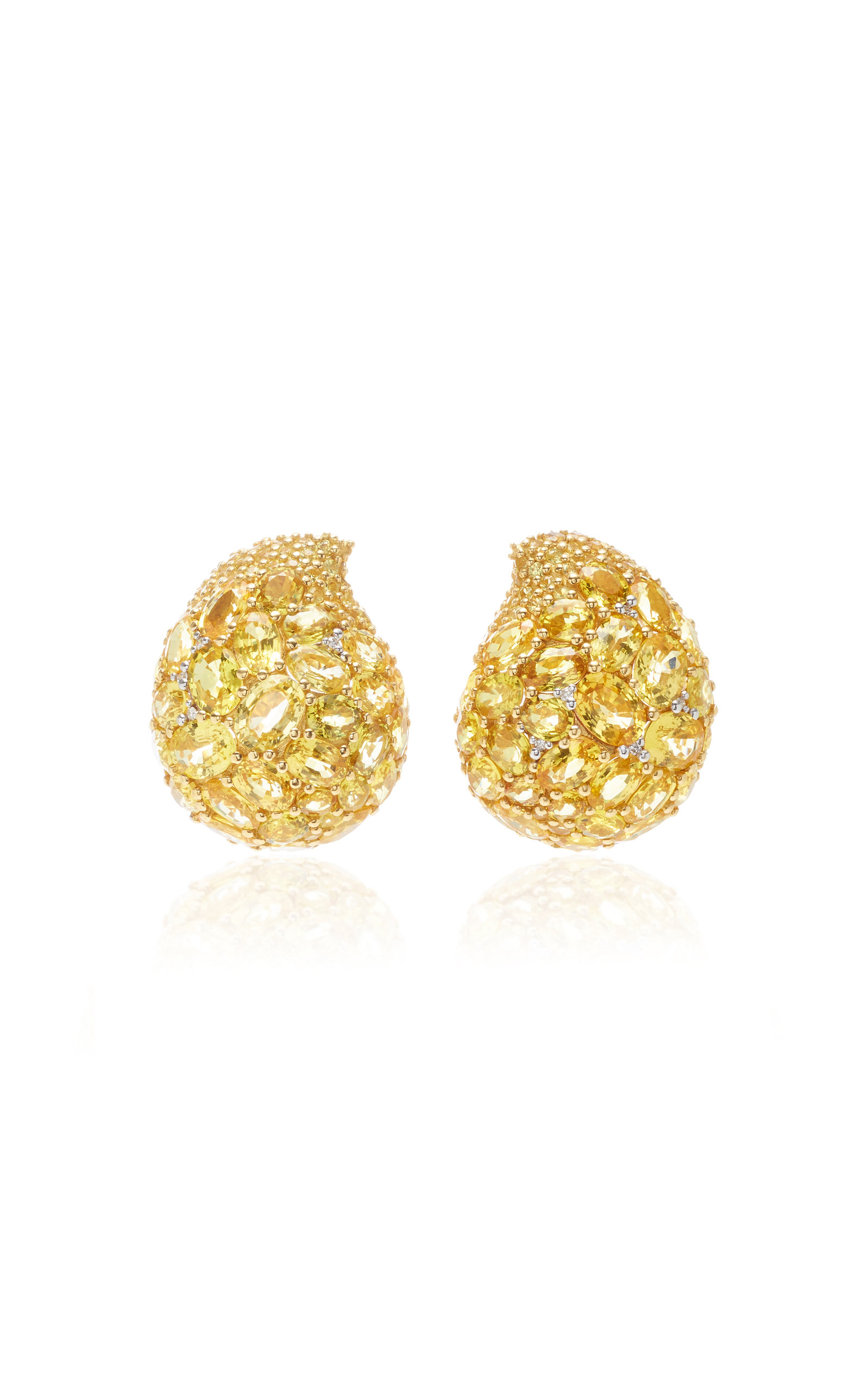 GIOVANE | Giovane 18K White Gold Pink Sapphire And Diamond Earrings | Goxip