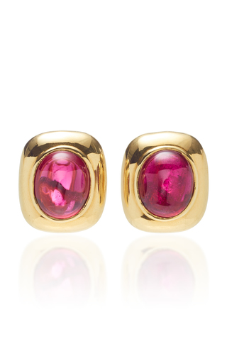 GIOVANE | Giovane 18K Gold and Rubellite Earrings | Goxip