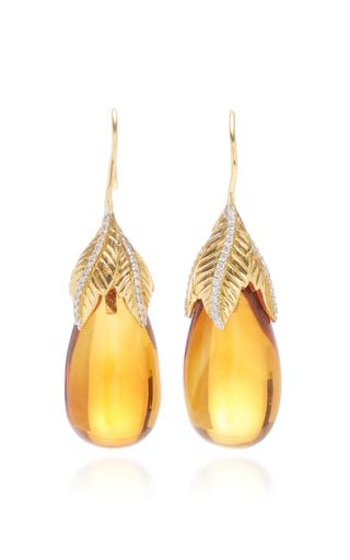 GIOVANE | Giovane 18K Gold Citrine and Diamond Earrings | Goxip