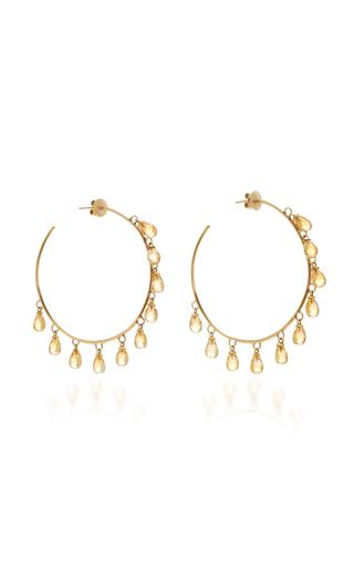 GIOVANE | Giovane 18K Gold and Citrine Earrings | Goxip