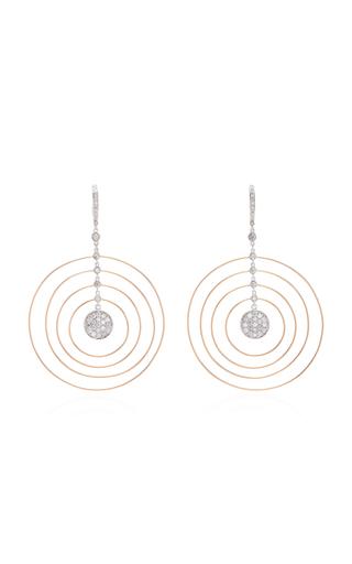 GIOVANE | Giovane 18K White and Rose Gold Diamond Earrings | Goxip