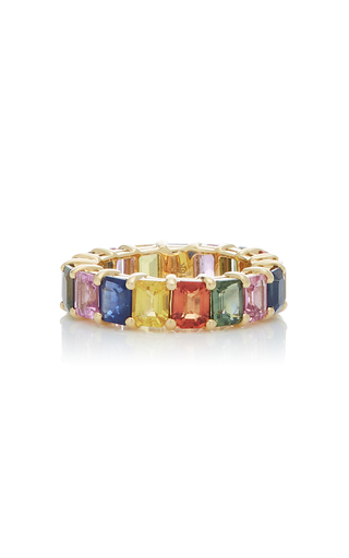 GIOVANE | Giovane 18K Gold and Sapphire Ring | Goxip