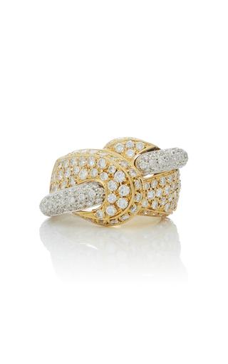 GIOVANE | Giovane 18K White And Yellow Gold Pavé Diamond Ring | Goxip
