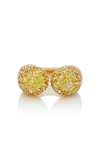 GIOVANE | Giovane 18K Gold Yellow Sapphire and Diamond Ring | Goxip