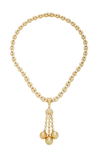 GIOVANE | Giovane 18K Gold Diamond and Pearl Necklace | Goxip