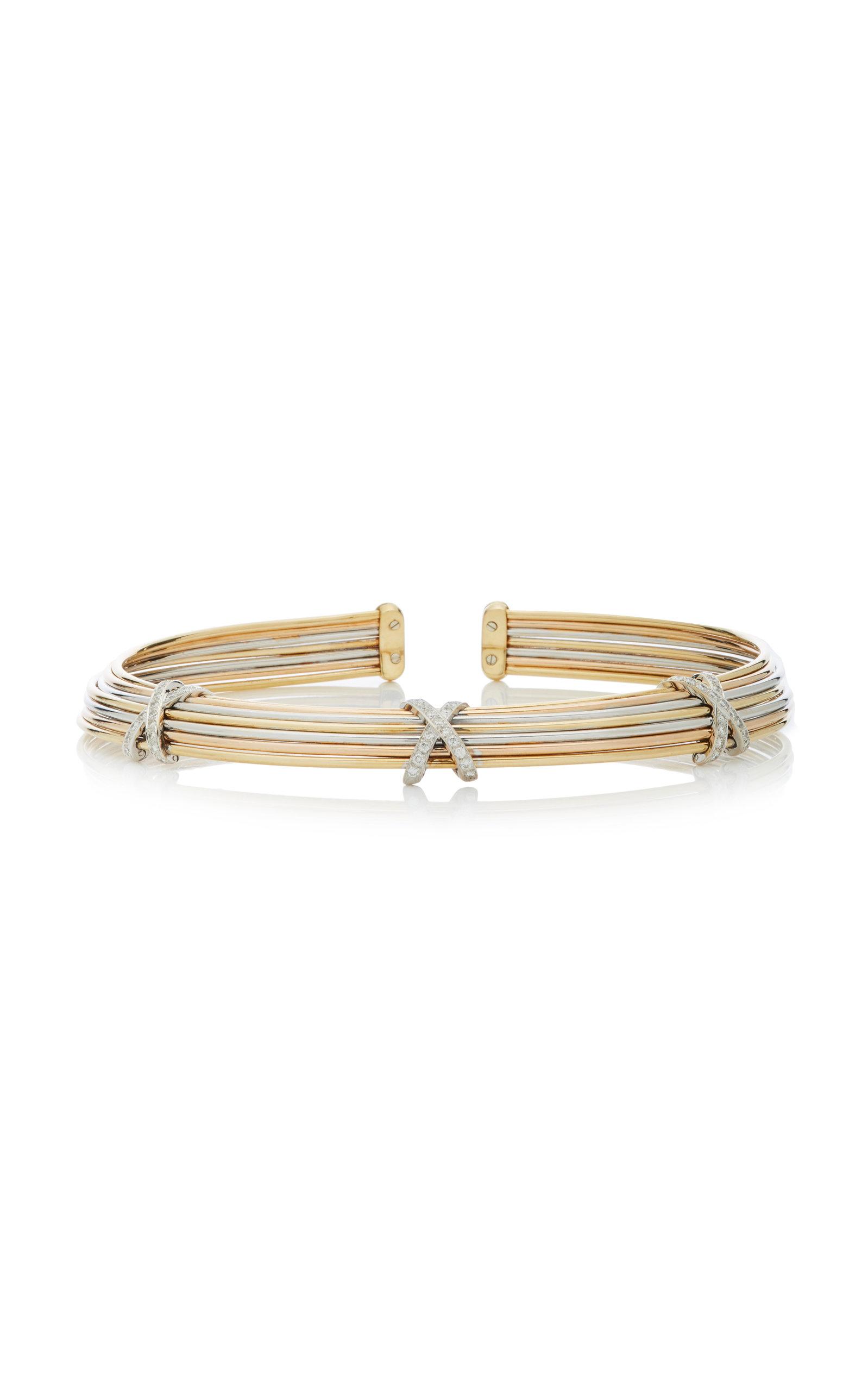 GIOVANE | Giovane 18K Tri-Gold Diamond Necklace | Goxip