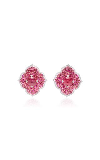 GIOVANE | Giovane 18K White Gold Ruby and Diamond Earrings | Goxip