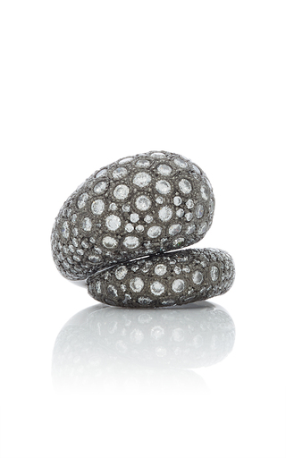 GIOVANE | Giovane 18K Oxidized Gold and Diamond Ring | Goxip