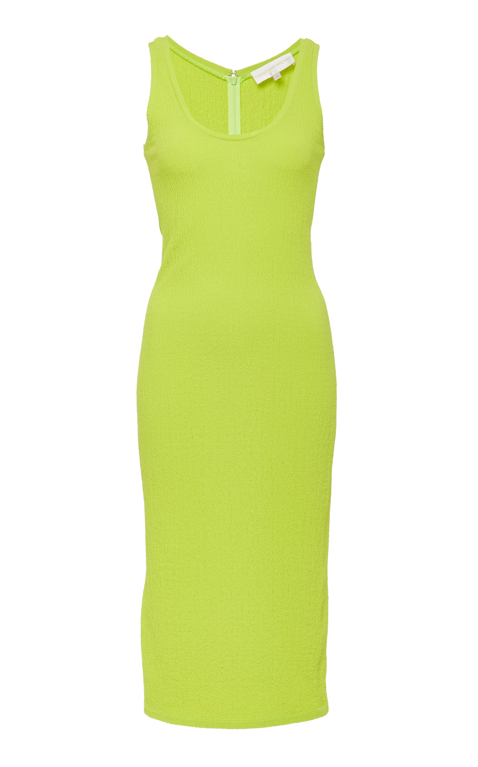 Christian Siriano SCOOP NECK CREPE DRESS