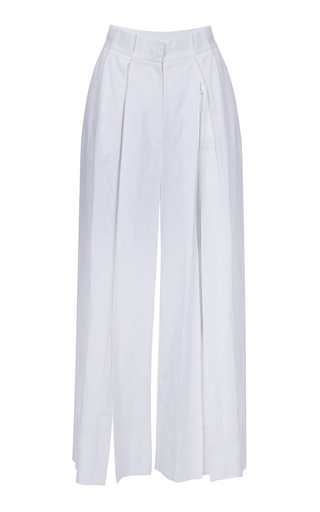 BEVZA | BEVZA Linen Pants With Cuts | Goxip
