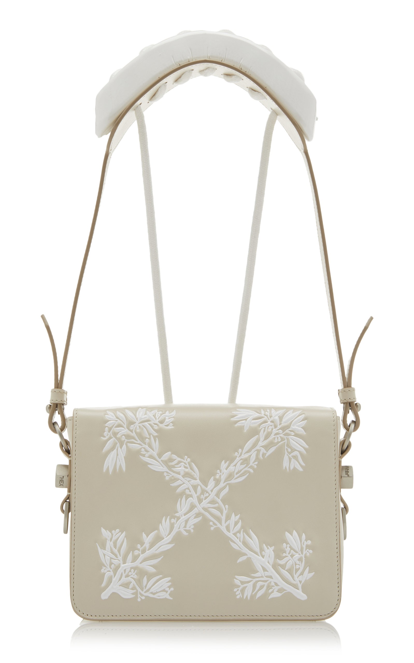 Hanna Leaves Leather Flap Bag By Off White Co Virgil Abloh Moda
