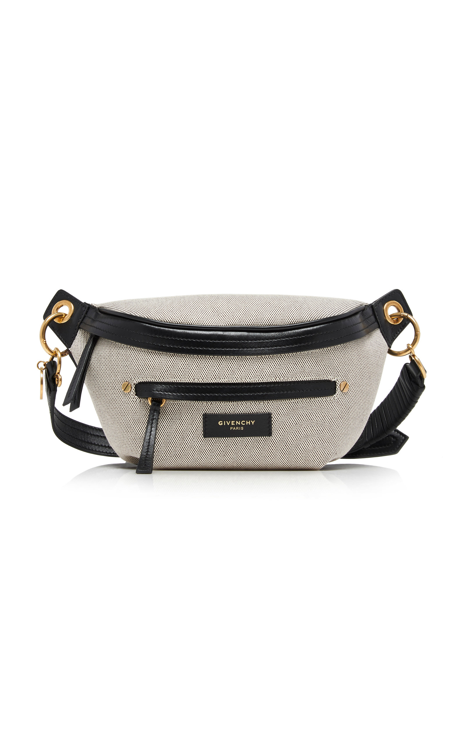 Whip Leather-Trimmed Canvas Belt Bag by Givenchy