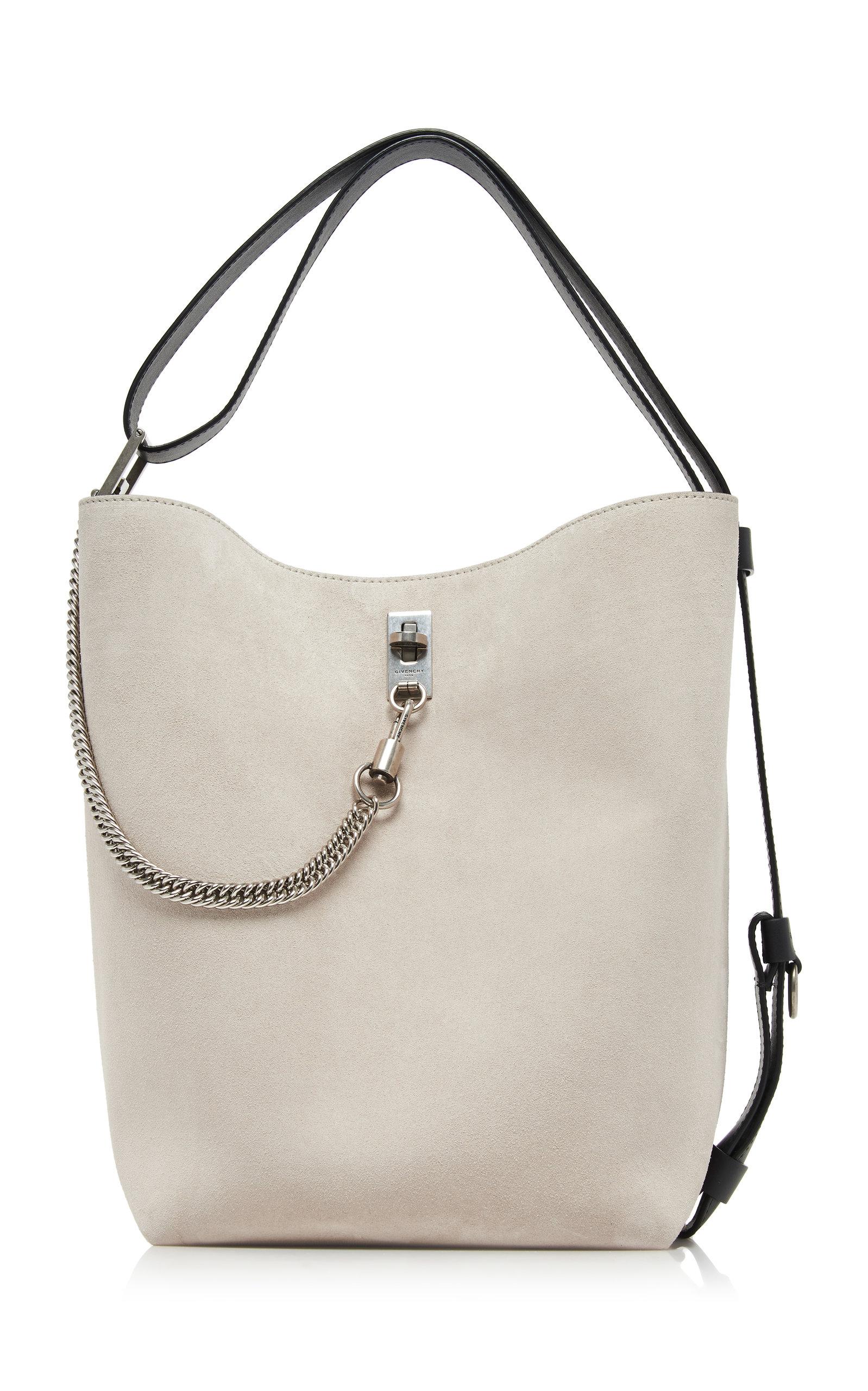 da8ee9cb807 GV Medium Metallic Suede Bucket Bag by Givenchy | Moda Operandi