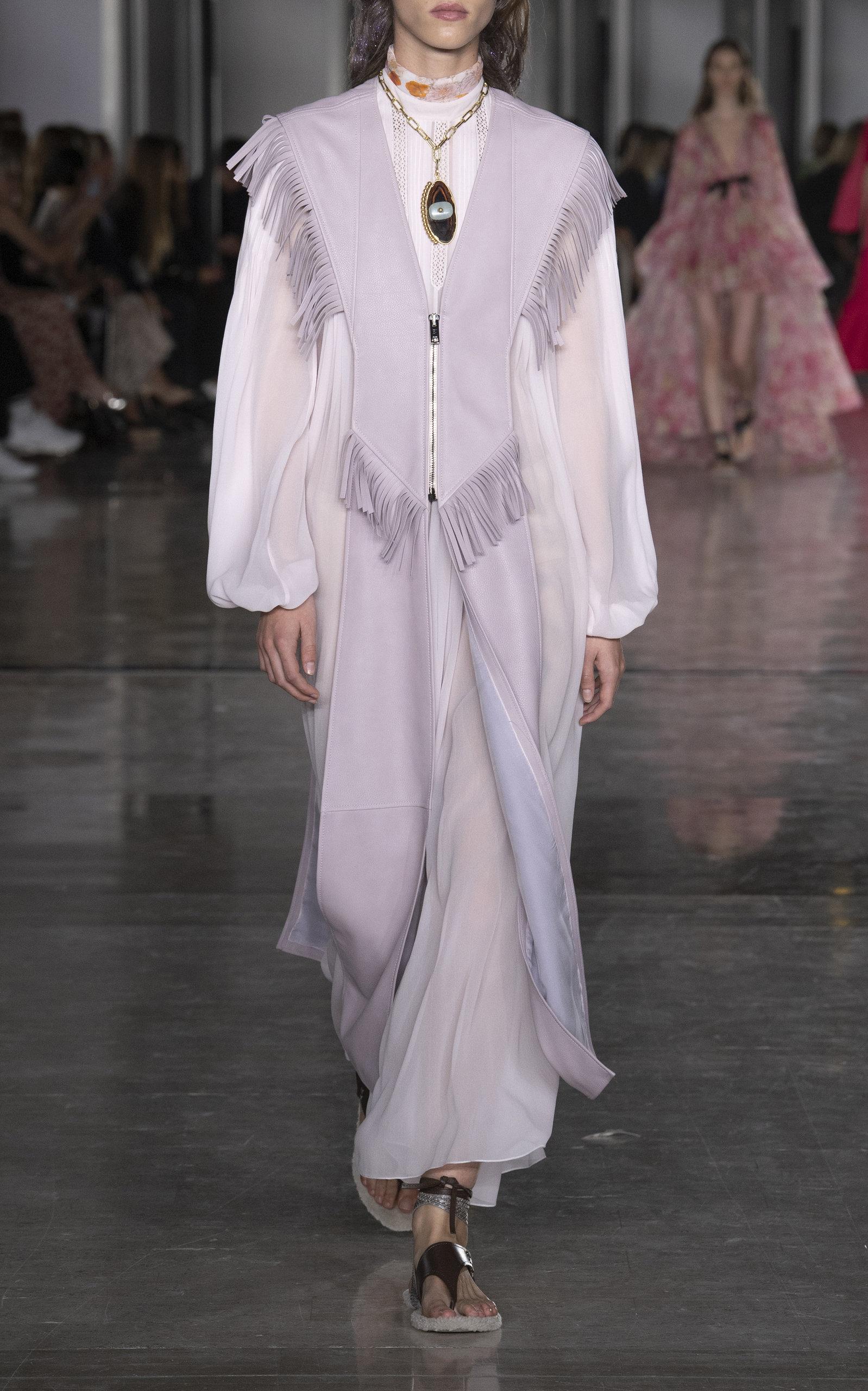 d84d35021590 Chiffon Mock Neck Shift Dress by Giambattista Valli | Moda Operandi