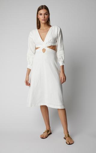 41434c5b6e Kenzie Ruffle Midi Dress by Marissa Webb