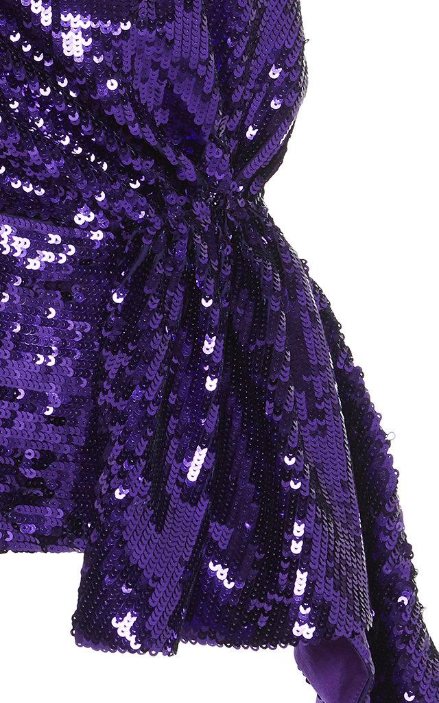 0c022e07a78f1 16ArlingtonOne-Shoulder Puff Sleeve Sequin Top. CLOSE. Loading. Loading.  Loading