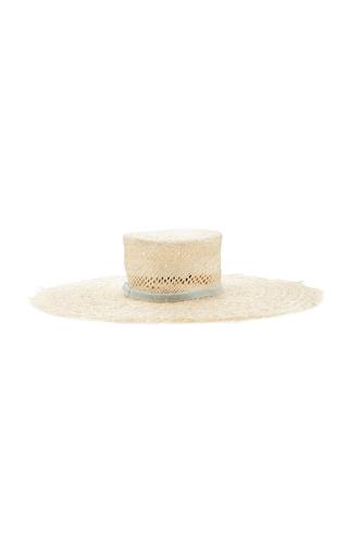 ALBERTUS SWANEPOEL | Albertus Swanepoel M'O Exclusive Claire Velvet-Trimmed Straw Hat | Goxip