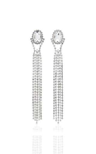 16ARLINGTON | 16Arlington XL Crystal Drip Earrings | Goxip