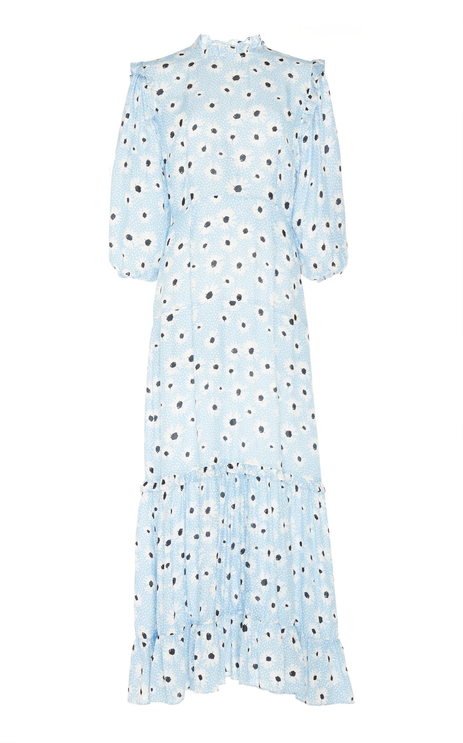 Rixo London MONET COTTON-AND-SILK-BLEND DRESS