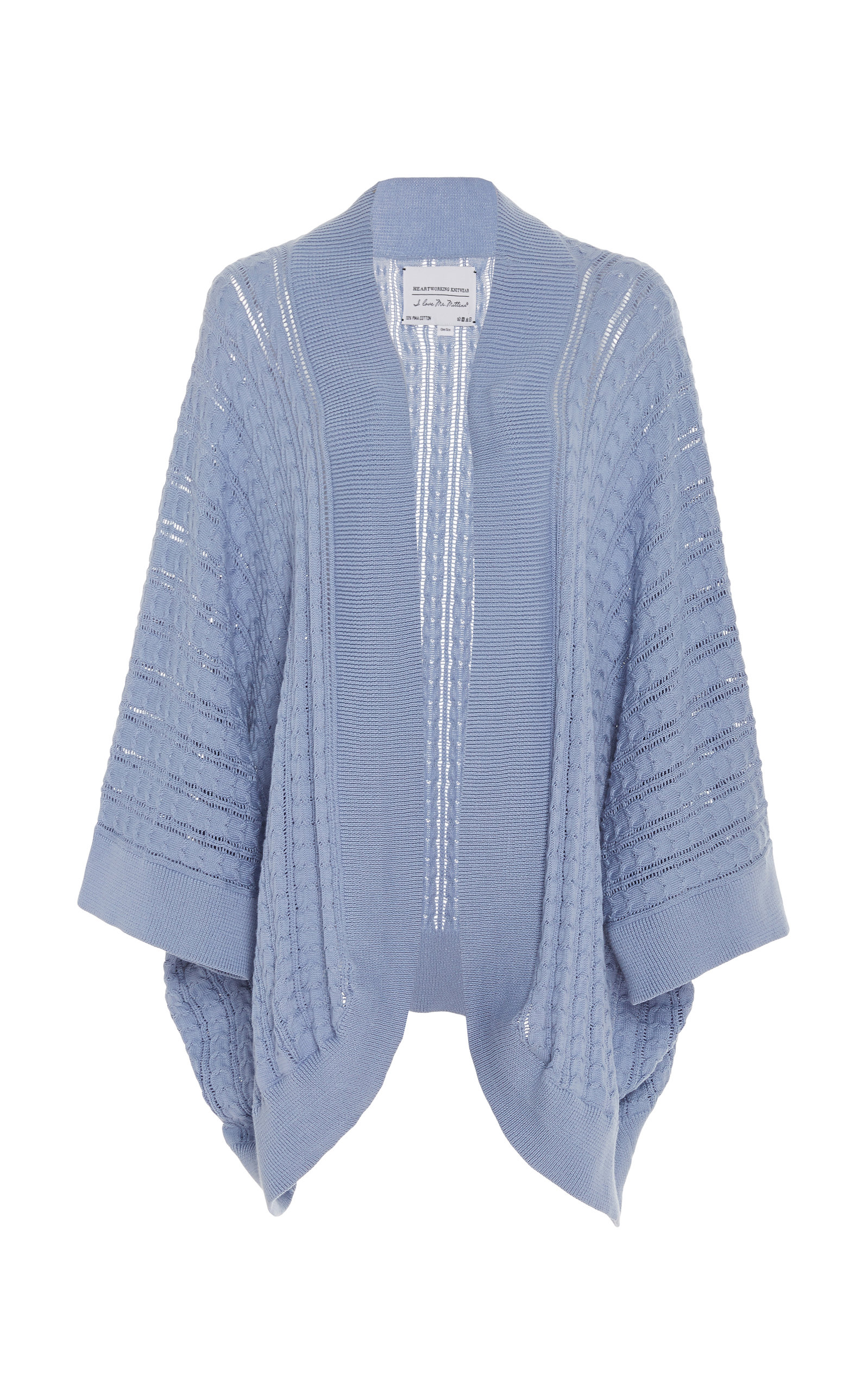 75424e59d Cable-Knit Cotton Kimono Sweater by I Love Mr. Mittens