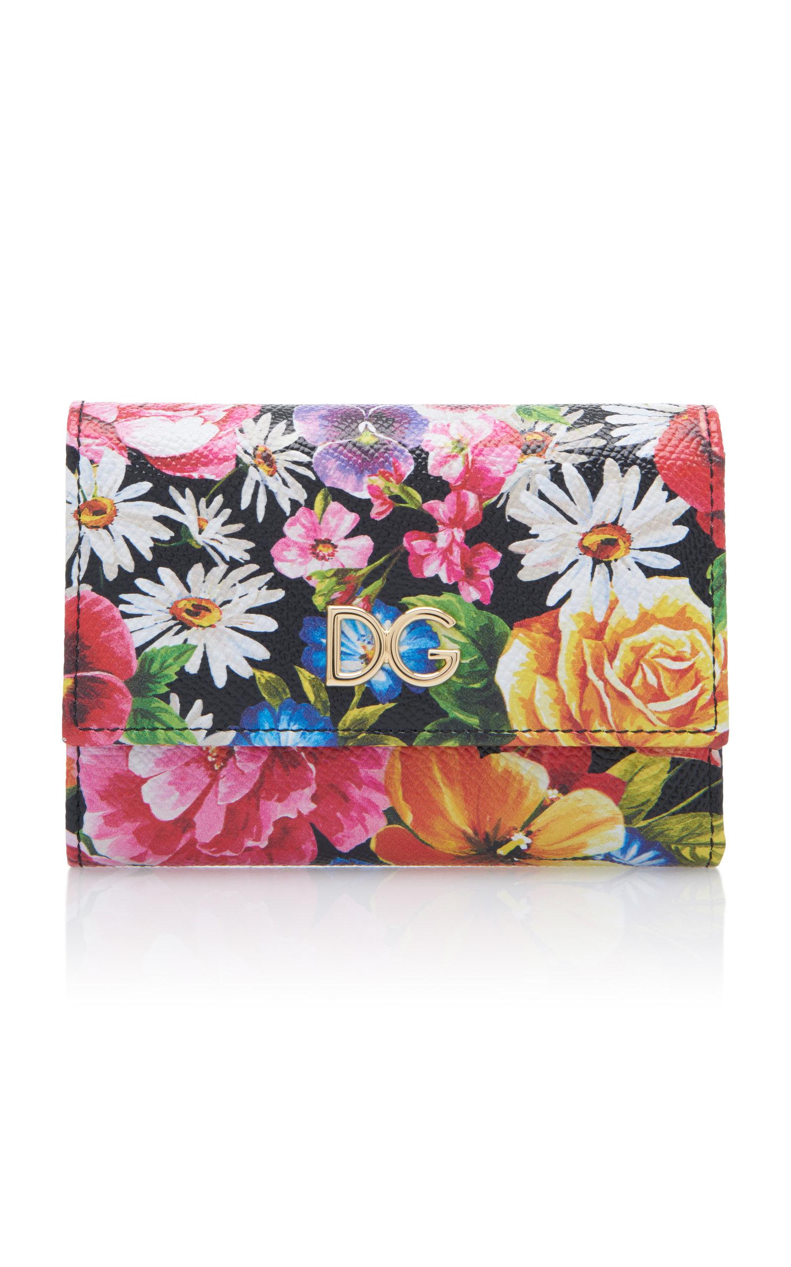 DOLCE & GABBANA | Dolce & Gabbana Floral-Print Leather Wallet | Goxip