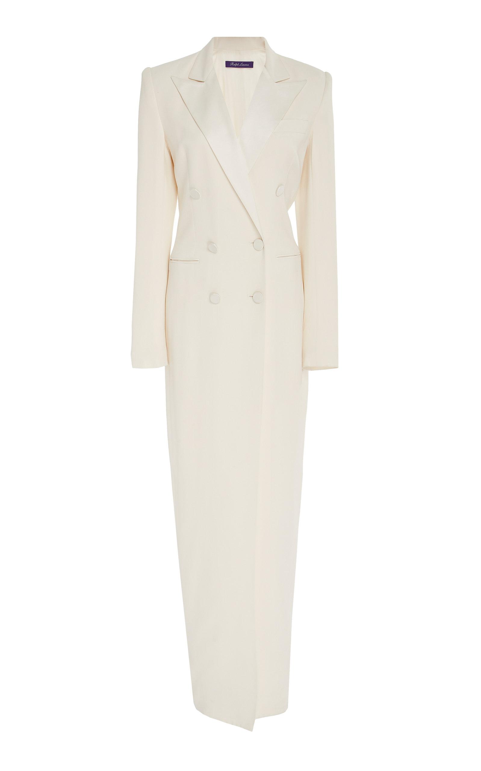 Ralph Lauren Silks KRISTIAN DOUBLE-BREASTED SILK DRESS