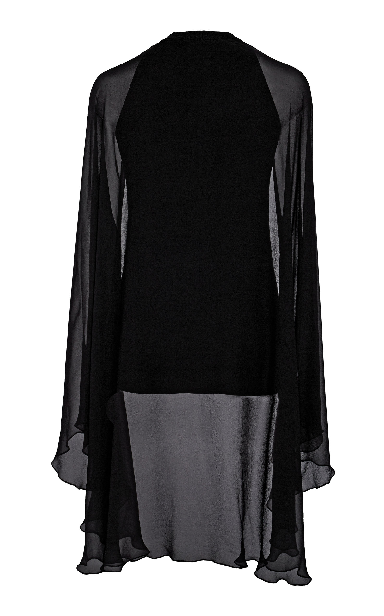 Ralph Lauren Tops Cape-Effect Silk Chiffon Top