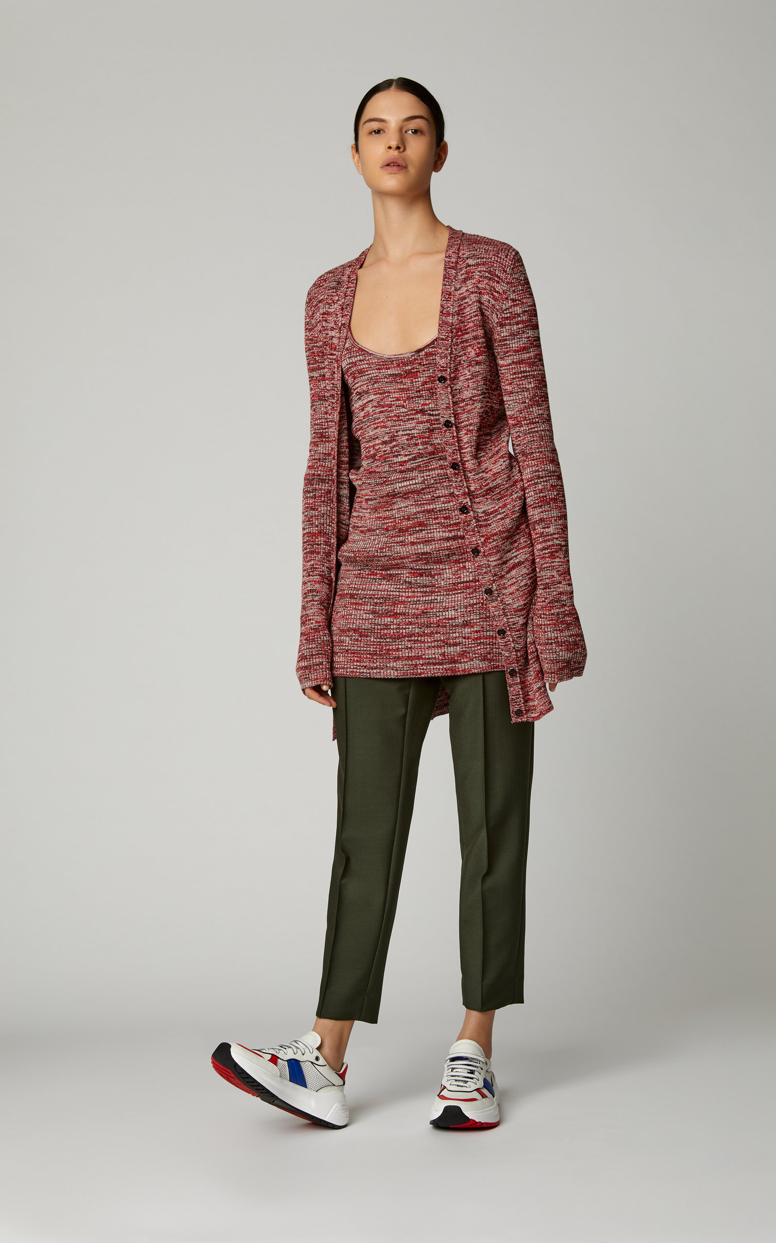 BOTTEGA VENETA Tanks Marled Rib-Knit Cotton Cardigan