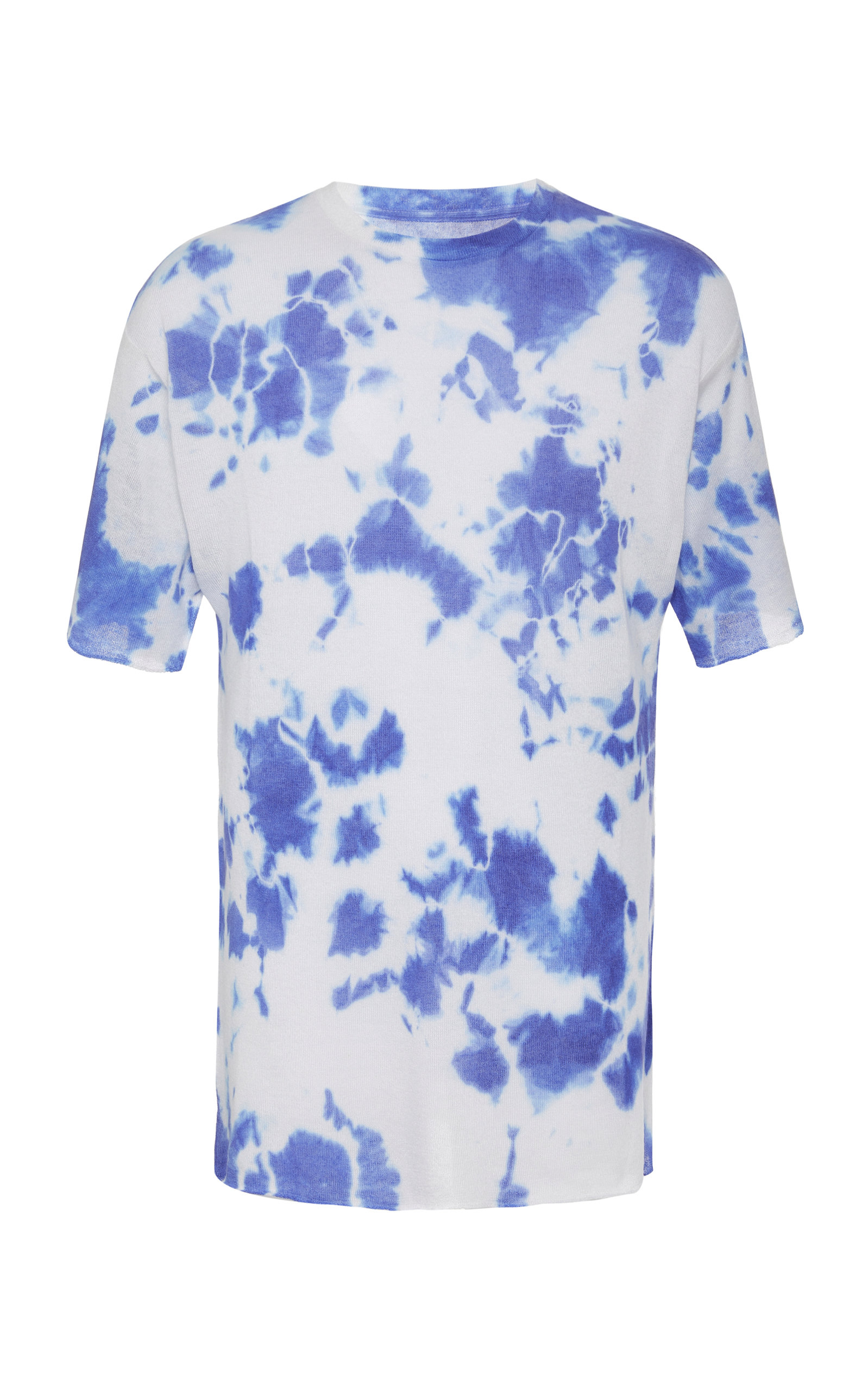 The Elder Statesman T-shirts EXCLUSIVE CYCLONE TIE-DYED CASHMERE T-SHIRT