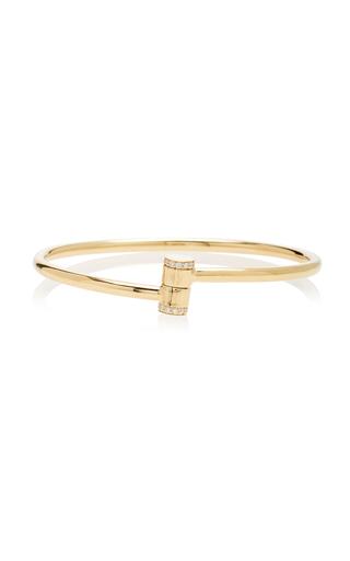 MIANSAI | MIANSAI Pillar 14K Gold Diamond Cuff | Goxip