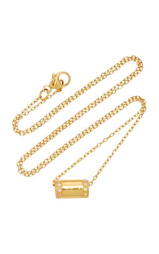 MIANSAI | MIANSAI Pillar 14K Gold Diamond Necklace | Goxip