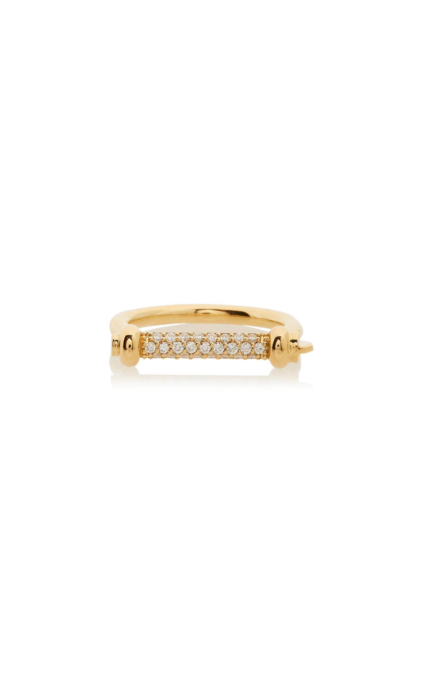 MIANSAI   MIANSAI 14K Gold Diamond Ring   Goxip